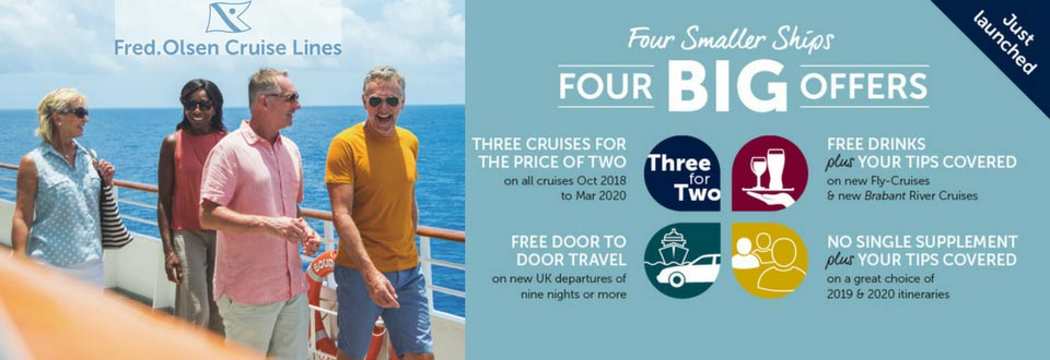 Fred Olsen Cruises Four Smaller Ships, Four BIG Offers